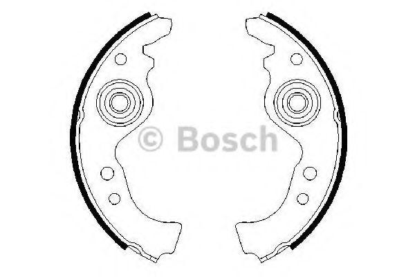 Brake Shoes 0986487030 Bosch Set SE028165299B 4162186 5880891 5881040 5881050