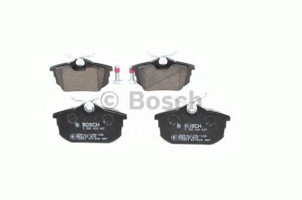 Brake Pads Set fits MITSUBISHI COLT Mk6 1.1 Rear 04 to 12 3A91 Bosch MN125772