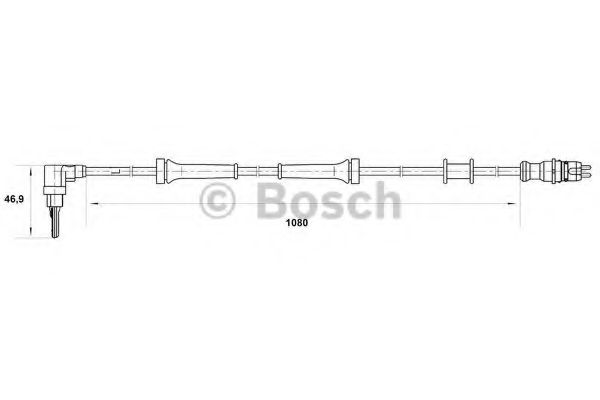 BRAKES 0265006755 BOSCH WHEEL-SPEED SENSOR WS6755 BRAND NEW GENUINE PART