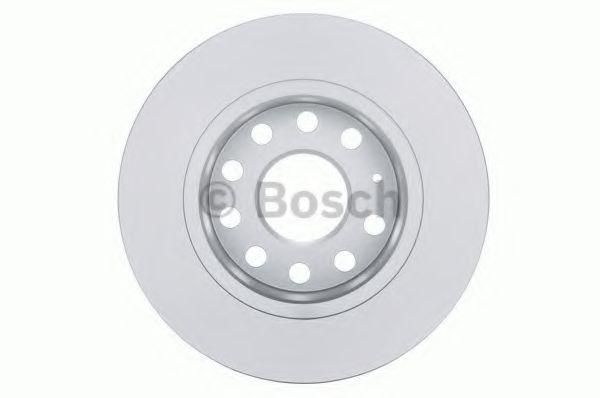 8P1 8PA 2x Brake Discs AUDI A3 8P Solid Rear 03 to 13 255mm Set Bosch Pair