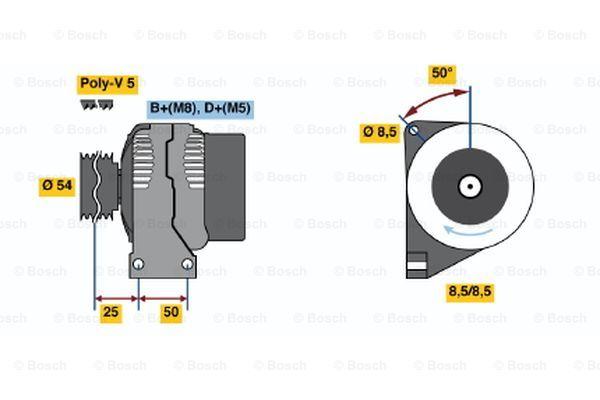Fiat Albea 14 Alternator 07 To 12 Bosch 46542889 46843091 51709133