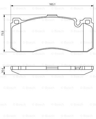 Brake-Pads-Set-fits-BMW-130-E87-3-0-Front-05-to-11-Bosch-34116784807-34116786044