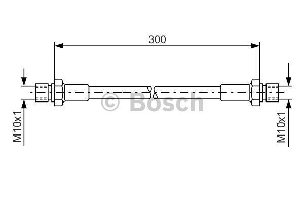 MERCEDES ML280 W164 3.0D Brake Hose Front 05 to 09 OM642.940 Hydraulic Corteco