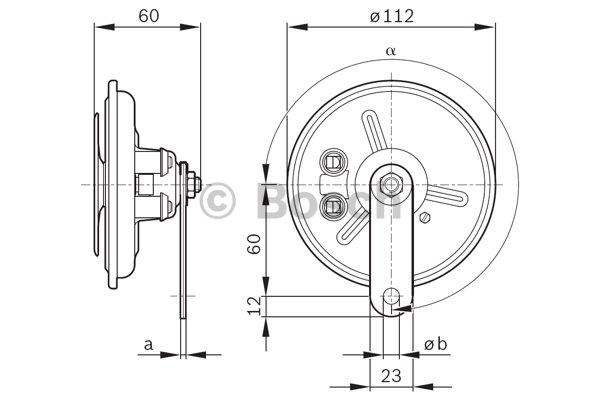 bosch air horn  hgv  0986320310   horn