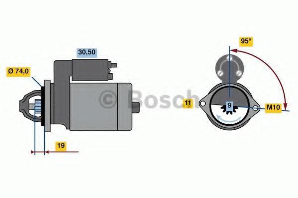 Starter Motor 0986023260 Bosch 281000D090 281000D180 Genuine Quality Replacement