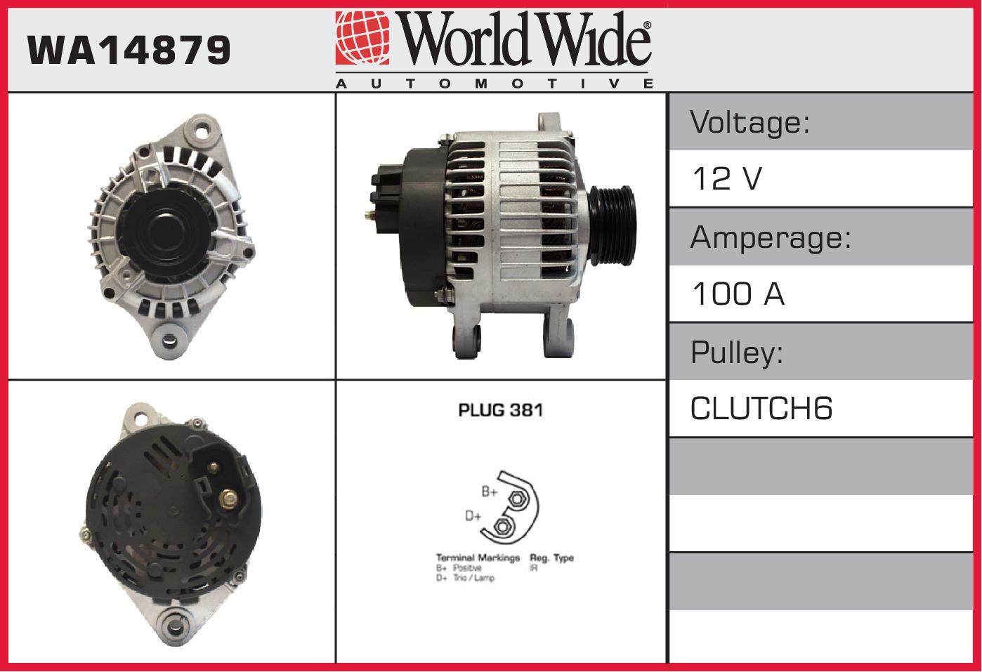 Alternator (Surcharge Free) fits FIAT DOBLO 1.9D WWA Genuine Quality ...
