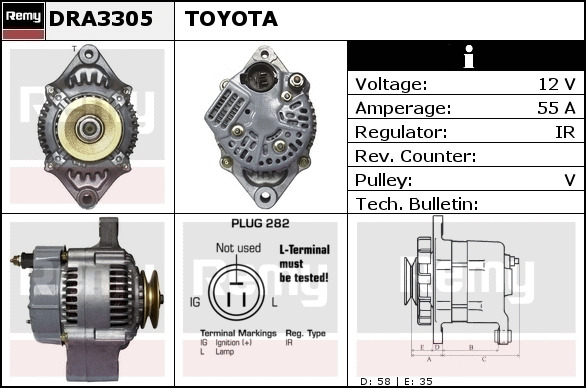 Details about Alternator fits ISUZU TROOPER Mk1 2 6 87 to 91 4ZE1 Remy  8941373452 Quality