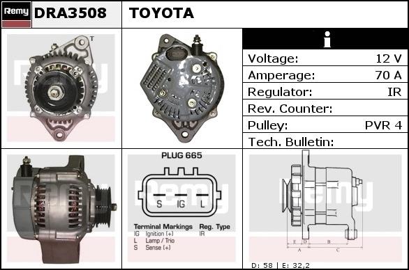 Lichtmaschine Toyota 2706016180R
