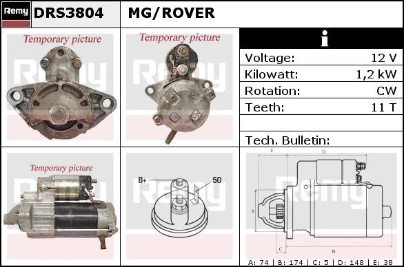 5 Año De Garantía Motor arranque denso DSN941-Nueva-Original