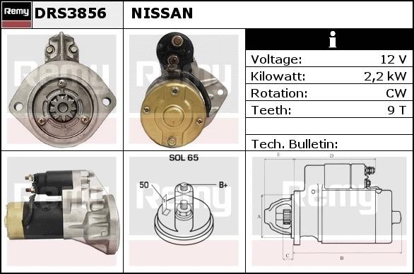 FITS NISSAN CABSTAR TRUCK /& VAN 3.0 D TD TDi STARTER MOTOR 1994-2006 BRAND NEW
