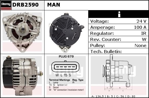 BOSCH ALTERNATOR REGULATOR FOR MAN TRUCK 12.145-12.85 2001-2002.1197311558 NEW