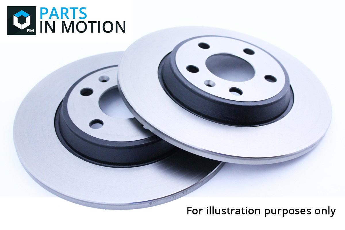 skoda octavia 1u 2x brake discs pair solid rear 96 to 10. Black Bedroom Furniture Sets. Home Design Ideas