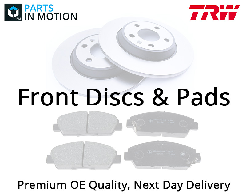 Brake Discs Pads Kit Front DF4866S+GDB1814 TRW Set Quality Replacement Pair